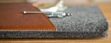 """Темно-коричневый кожаный чехол-конверт для Macbook Pro 15"""" Retina Handwers Welt"""