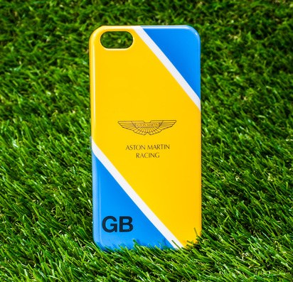 Чехол-накладка для iPhone 5/5s/SE Aston Martin Yellow-Blue -