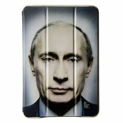 Кожаный чехол для iPad Mini/Retina JisonCase Executive Putin -