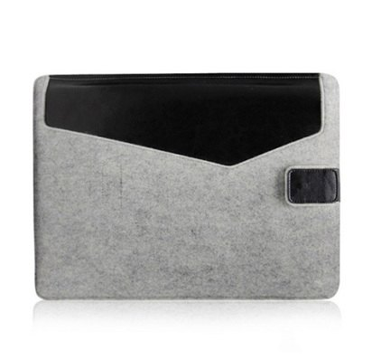 "Фетровый чехол для Macbook Air/Pro 13"" Fisherman Light Gray/Black -"