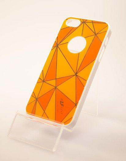 Оранжевый чехол-накладка для iPhone 5 SZLF Ultra thin