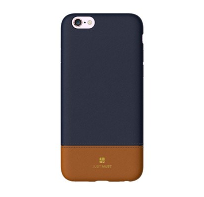 Чехол-накладка для iPhone 6/6s Plus Just Must Mix Collection Blue/Brown -