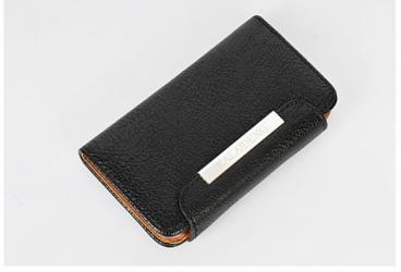 Черный кожаный чехол книжка для iPhone 5 Kalaideng