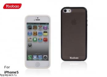 Черный чехол накладка для iPhone 5 Yoobao Protect Case