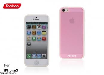Розовый чехол накладка для iPhone 5 Yoobao Protect Case