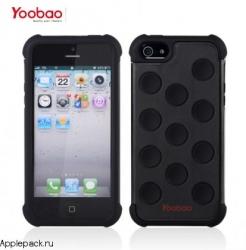 Черный чехол накладка для iPhone 5 Yoobao Protective Case