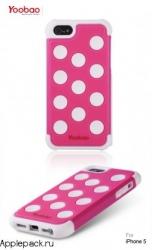 Розовый чехол накладка для iPhone 5 Yoobao Protective Case