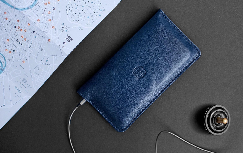 fa3a73fe203a Синий кожаный чехол-кошелек для iPhone 5/5S/SE Handwers Ranch ...