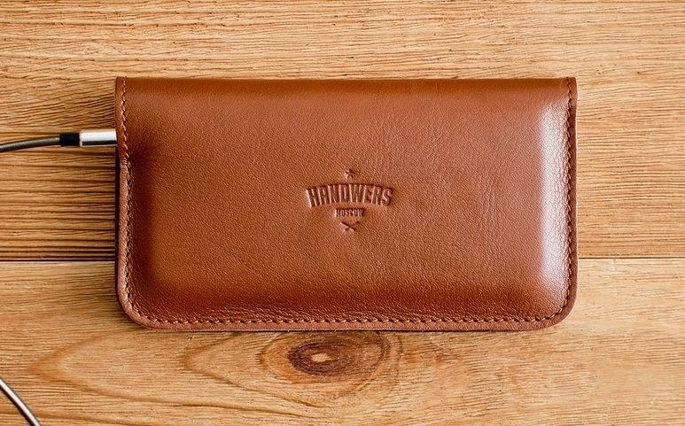 3faf33008cc3 Коричневый кожаный чехол-кошелек для iPhone 5/5S/SE Handwers Ranch ...