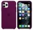 Чехол для iPhone 11 Pro Max Silicone Case силиконовый сливовый