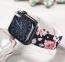 Силиконовый ремешок для Apple Watch 42/44 mm COTEetCI Black Roses