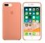 Персиковый силиконовый чехол для iPhone 7/8 Plus Silicone Case