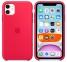 Чехол для iPhone 11 Silicone Case силиконовый красный