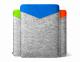 """Серый фетровый чехол для Macbook Air 11"""" Safo Shift Orange"""