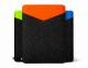 """Черный фетровый чехол для Macbook Air 11"""" Safo Shift Orange"""