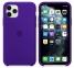 Чехол для iPhone 11 Pro Max Silicone Case силиконовый темно-пурпурный