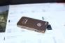 Золотистый чехол-накладка на iPhone 4/4S Monster Beats