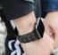 Черный металлический ремешок для Apple Watch 38/40 mm Hoco Grand Steel