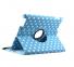 Голубой вращающийся чехол для iPad 2/3/4 Polka Dot Case