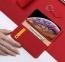Красный чехол-книжка для iPhone X/XS Dux Ducis Wish Series