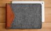 Темно-коричневый кожаный чехол-конверт для iPad Handwers Welt