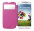 Розовый чехол-книжка для Samsung Galaxy S4 mini S View Cover