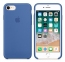Серо-синий силиконовый чехол для iPhone 7/8 Silicone Case