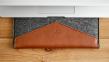 """Темно-коричневый кожаный чехол-конверт для Macbook Pro 13"""" Handwers Welt"""