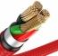 Красный усиленный USB-кабель Lightning Baseus Horizontal Data Cable 1.5A 2m