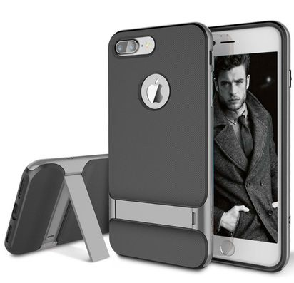 Чехол-накладка для iPhone 7/8 Plus Rock Royce Kickstand Gray -