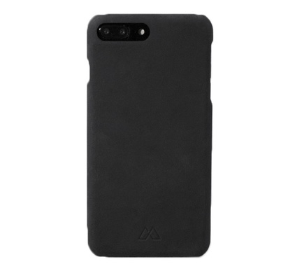 Черный кожаный чехол для iPhone 7/8 Plus Moodz Design Handmade Leather Case -