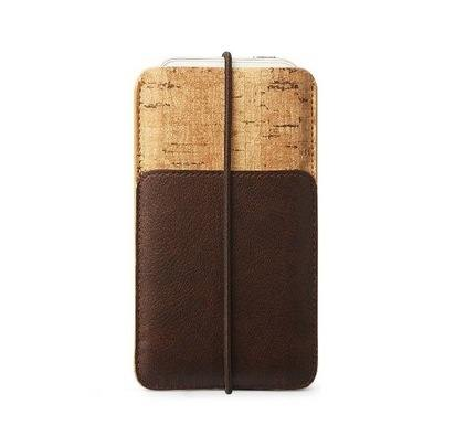 Кожаный чехол для iPhone 5/5S/SE Zenus E-Cork Pouch Brown -