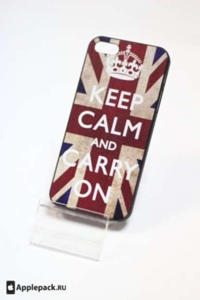 Чехол-накладка для iPhone 5 Ceep Calm and Carry On Case -