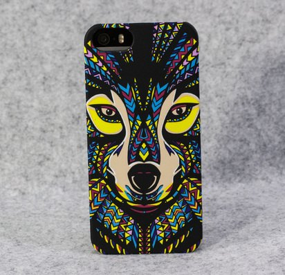 Чехол-накладка для iPhone 5/5s/SE Luxo Animal Collection Wolf -
