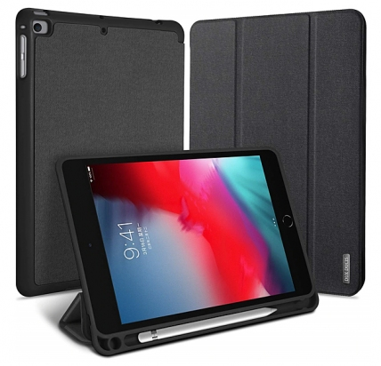 Черный чехол-книжка для iPad Mini 5 Dux Ducis Domo Series with Pencil Slot -