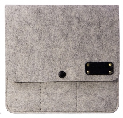 Фетровый чехол для iPad mini/Retina Pader Light Gray/Black -