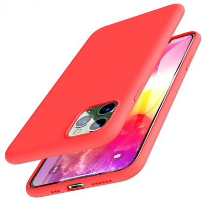 Чехол для iPhone 11 Pro Devia Nature Silicone Case Red -