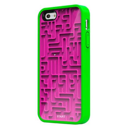 Чехол-накладка для iPhone 5/5s Retro Circle Maze Green/Purple -