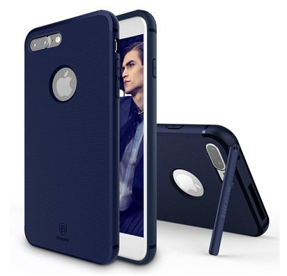 Чехол с подставкой для iPhone 7 Plus Baseus Hermit Bracket Dark Blue -