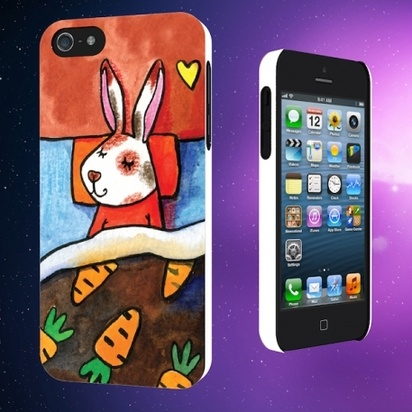 "Чехол для iPhone 5/5s Sleeping Animals ""Заяц"" -"
