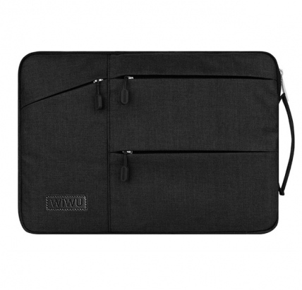 Черная сумка для Macbook Air/Pro 13 Wiwu Pocket Sleeve -