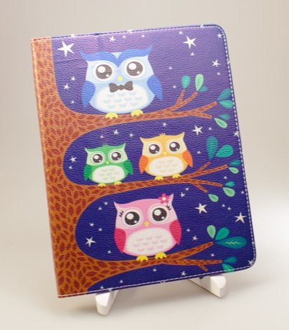 Синий чехол для iPad 2/3/4 Owl Family Case -