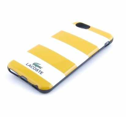 Чехол-накладка для iPhone 6 Lacoste T-shirt Case White/Yellow -