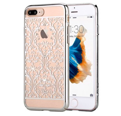 Прозрачный чехол для iPhone 7/8 Plus Devia Crystal Baroque Silver -