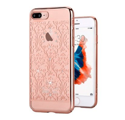 Прозрачный чехол для iPhone 7 Plus Devia Crystal Baroque Rose Gold -