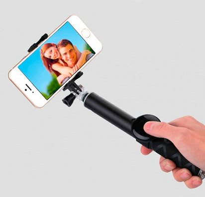 Монопод с Bluetooth-кнопкой Usams Photo-taking 80cm Black -