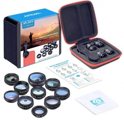 Набор линз Apexel 10-in-1 Function Lens Kit -