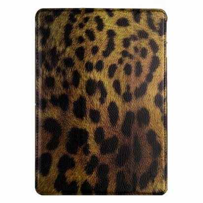 Кожаный чехол для iPad Air JisonCase Smart Leopard Case -