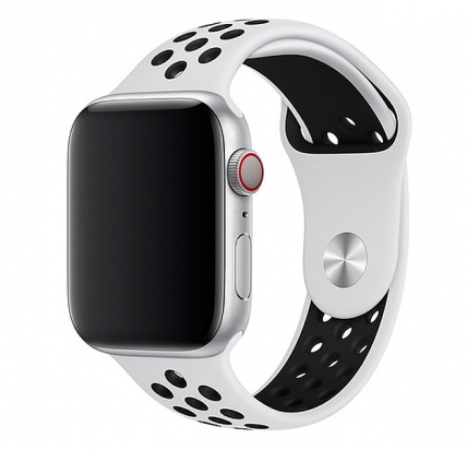 Ремешок Apple Watch 38/40 mm Perforated Sport Band White/Black -