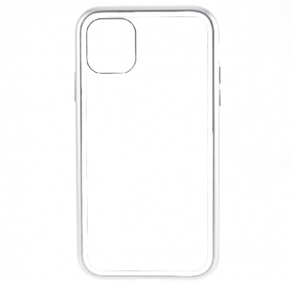 Чехол для iPhone 11 Pro Max Maibake 360 Magnet Glass Case Silver/White -